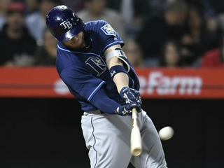 C.J. Cron homers as Rays rout Angels 7-1