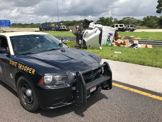FedEx driver dies after truck overturns on I-4