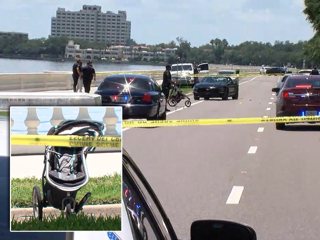 Car hits, kills mom pushing child in stroller