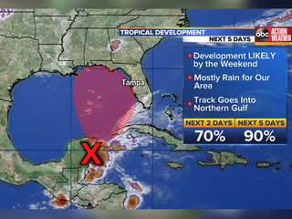 90% chance tropical system could develop in Gulf