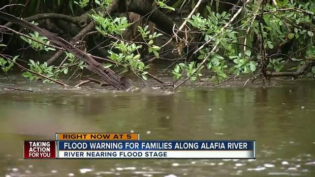 Flood warning issued for Alafia River until Saturday evening