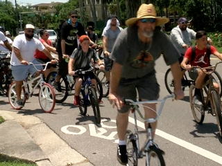 Cyclists honor Bayshore crash victims with ride