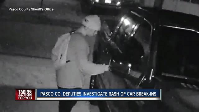 Car burglary spree has Pasco deputies warning people to lock their vehicles