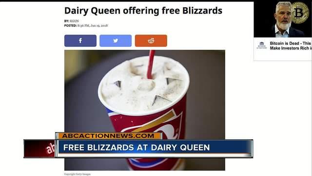 Dairy Queen offering free Blizzards