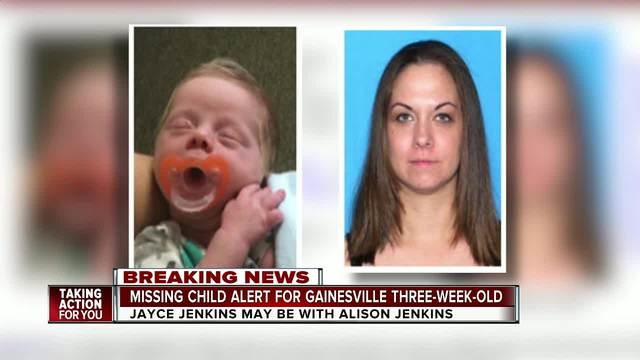 Florida Missing Child Alert issued for 3-week-old baby from Gainesville