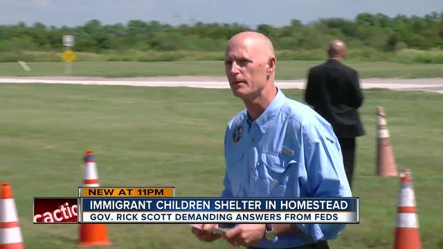 Gov- Scott- Separating migrant children from families -needs to stop now-