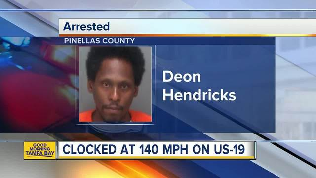 Florida man arrested for driving over 140 mph