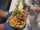 Poké Fish serves poké bowls inside pineapples