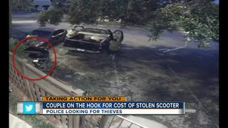 Burglars steal scooter from couple on vacation
