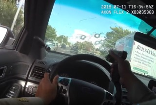 Wild police chase & shootout caught on body cam
