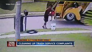 Garbage man caught misbehaving on home video