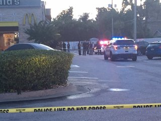 Man critical after shooting outside McDonald's
