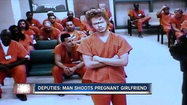 Man arrested for shooting pregnant girlfriend