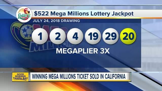 Mega million prizes california