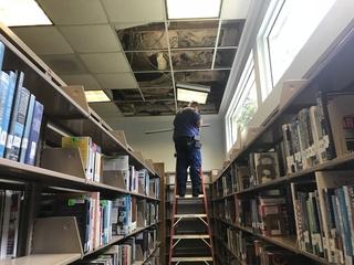 Burglars cut hole in Hernando library roof