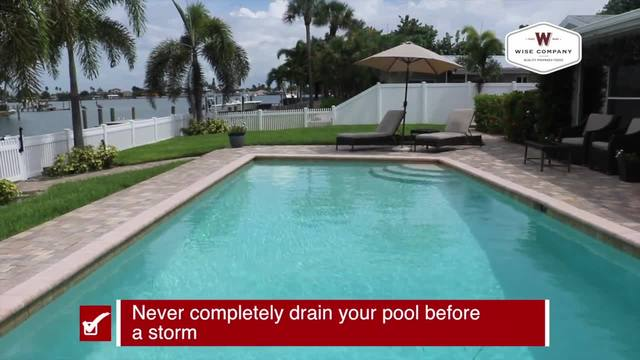 Prepare your pool before a storm - Tracking the Tropics Quick Tip