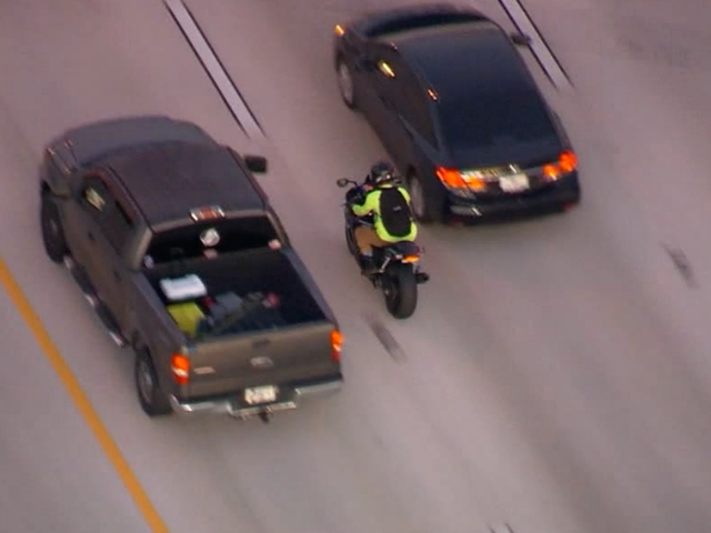 Risky Riding: Action Air One captures aggressive motorcyclist on