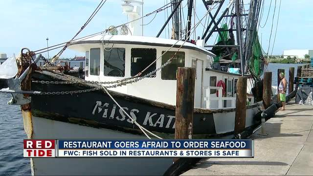 Local fishermen and restaurants starting to feel the impact of red tide