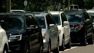Car pick-up line clogging Westchase roads