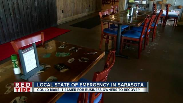 Businesses receiving red tide relief from local and state governments
