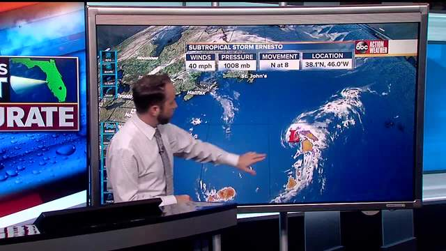 Subtropical Storm Ernesto forms - Tracking the Tropics