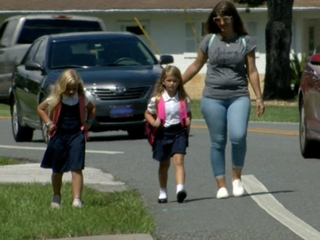 No sidewalk causes scary walk to school