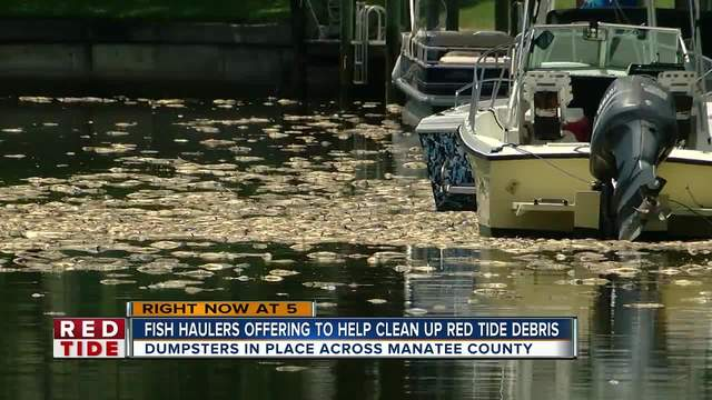 Fish haulers offering to help clean up red tide debris