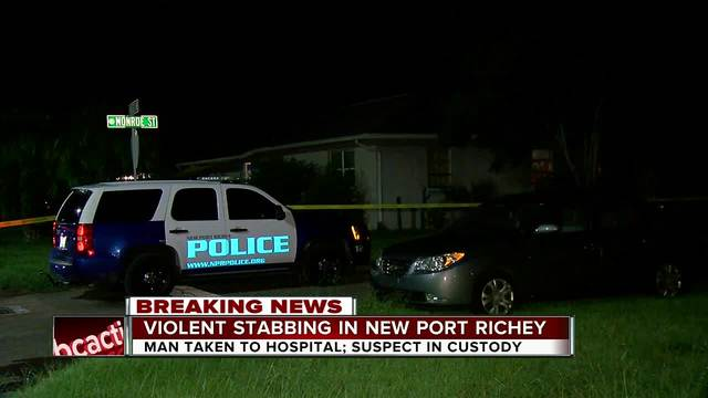 Man stabbed during home invasion in New Port Richey