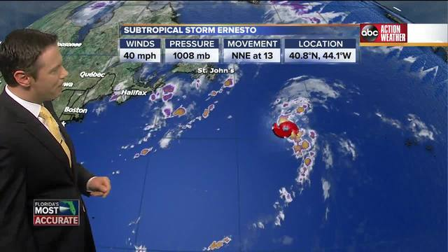 Subtropical Storm Ernesto - Tracking the Tropics