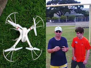 Drone mysteriously crash lands in S. Tampa yard