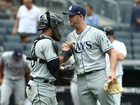 Rays rookie escapes jam in 9th for 3-1 win