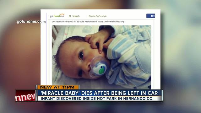 Infant dies after being left in hot car in Hernando County