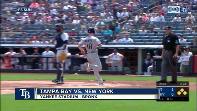 New York Yankees load bases in 9th inning- but Rays rookie pitcher Adam…