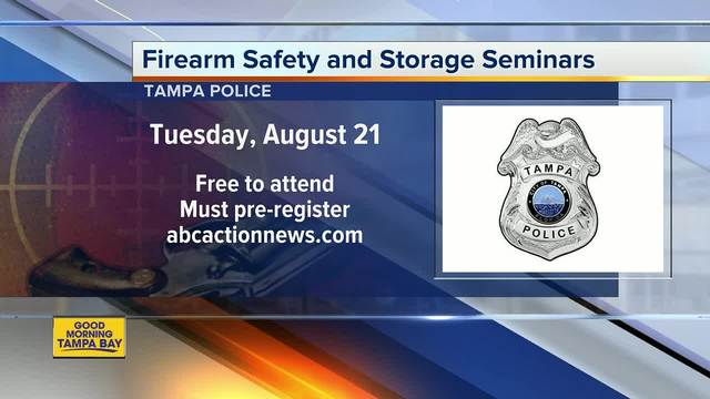 Tampa Police Department offering free gun safety and storage seminars to…