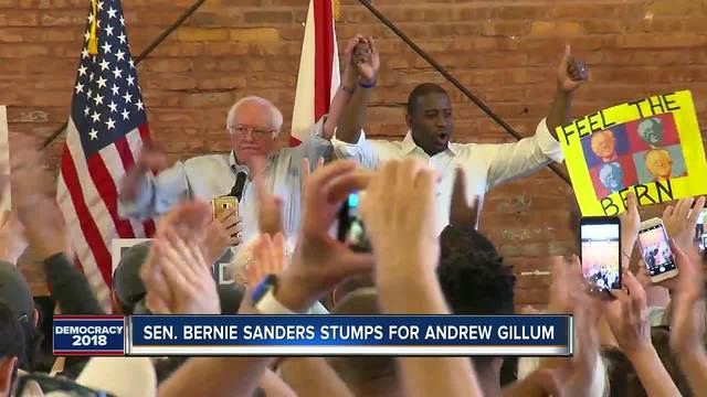 Bernie Sanders rallies in Tampa with Andrew Gillum