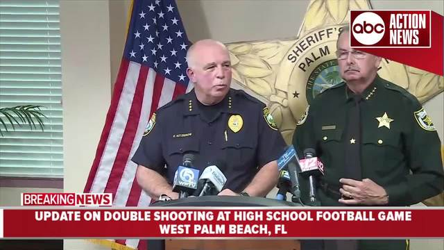 Presser- Two people shot during high school football game in West Palm…