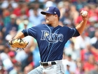 Rays combine on 2-hitter, blank Red Sox 2-0