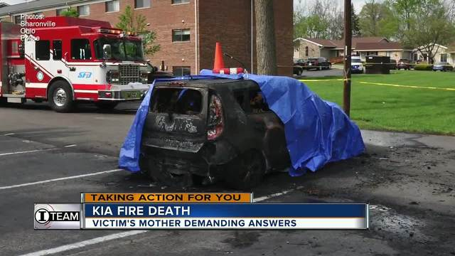 Mother watches son burn to death in Kia fire- calls for answers from car maker