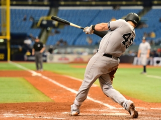 Yankees rout Rays 12-1, near home field vs A's