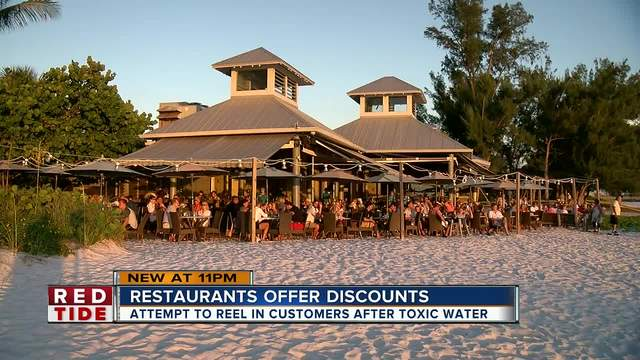 Beachside restaurants offering discounts to get customers back after red tide