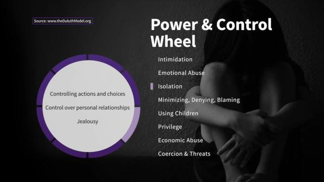 Isolation on the Wheel of Power and Control - Taking Action Against…