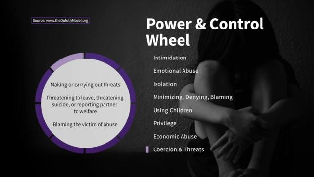 Coercion and Threats on the Wheel of Power and Control - Taking Action…