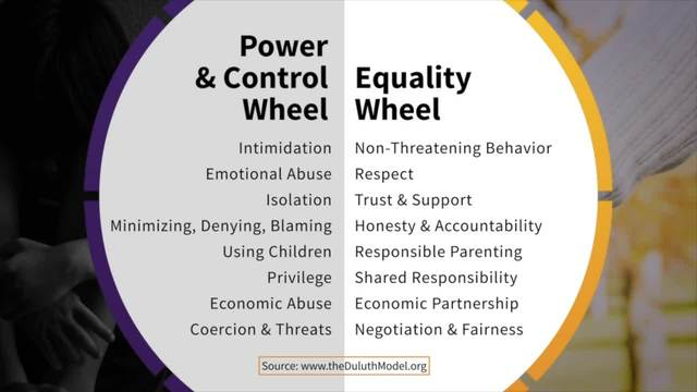 What is the Equality Wheel - Taking Action Against Domestic Violence