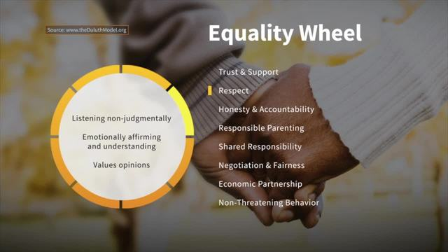 Respect on the Wheel of Equality - Taking Action Against Domestic Violence