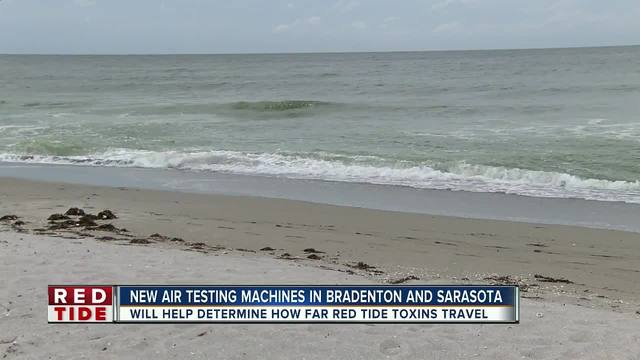 How far can red tide toxins travel by air-
