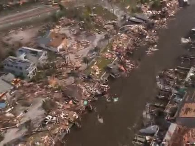 Aerial Video Shows Widespread Hurricane