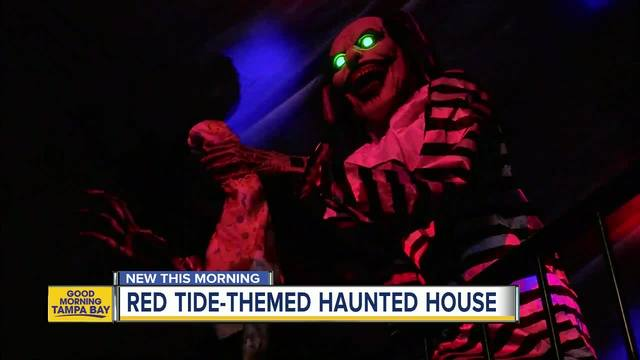 Haunted house in Largo raising money for Red Tide beach cleanup