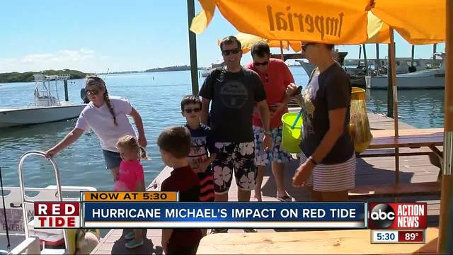 Hurricane gave some areas red tide relief