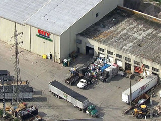 Newborn boy found dead at recycling center