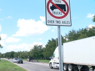 Truck drivers caught driving in no truck zones